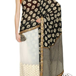 Black And White Bollywood Designer Sarees Online ,Indian Dresses - 5