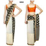 Black And White Bollywood Designer Sarees Online ,Indian Dresses - 1