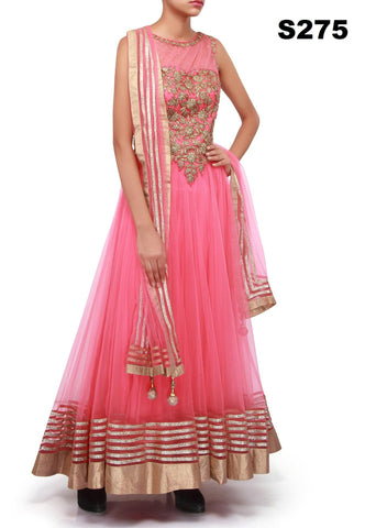 Pink Net Bollywood Lehenga ,Indian Dresses - 1