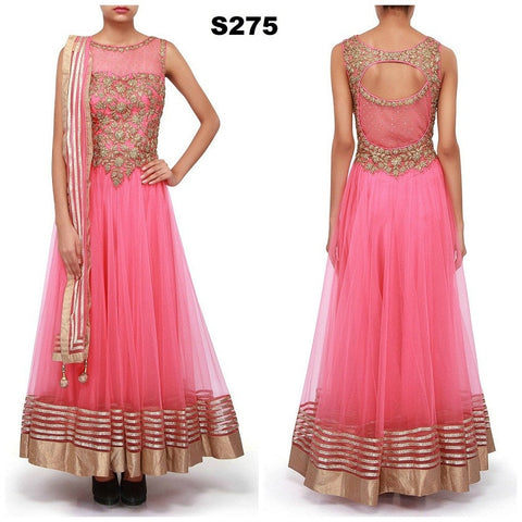 Pink Net Bollywood Lehenga ,Indian Dresses - 2