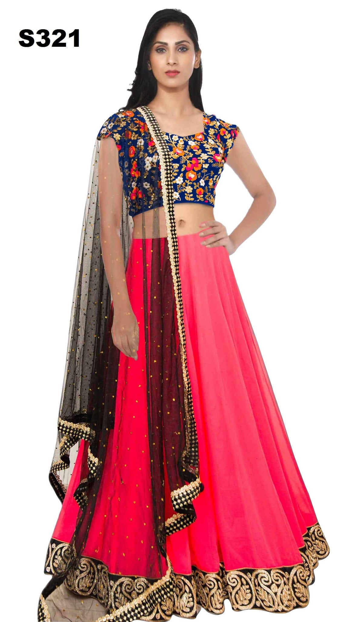 Pink Georgette Bollywood Lehenga For Sale ,Indian Dresses - 1