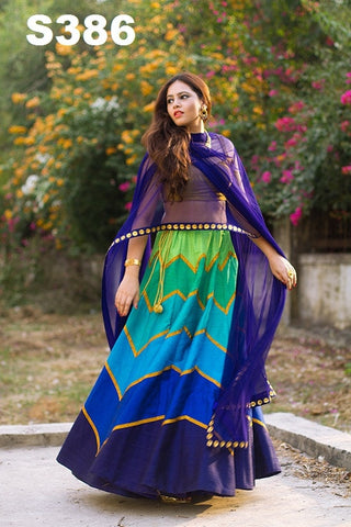 Multi Colour Bollywood Lehenga ,Indian Dresses - 1