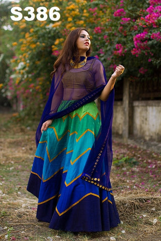 Multi Colour Bollywood Lehenga ,Indian Dresses - 2
