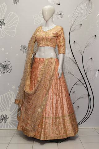 Misty Rose Malai Satin Online Shopping Lehenga Choli For Marriage Wear