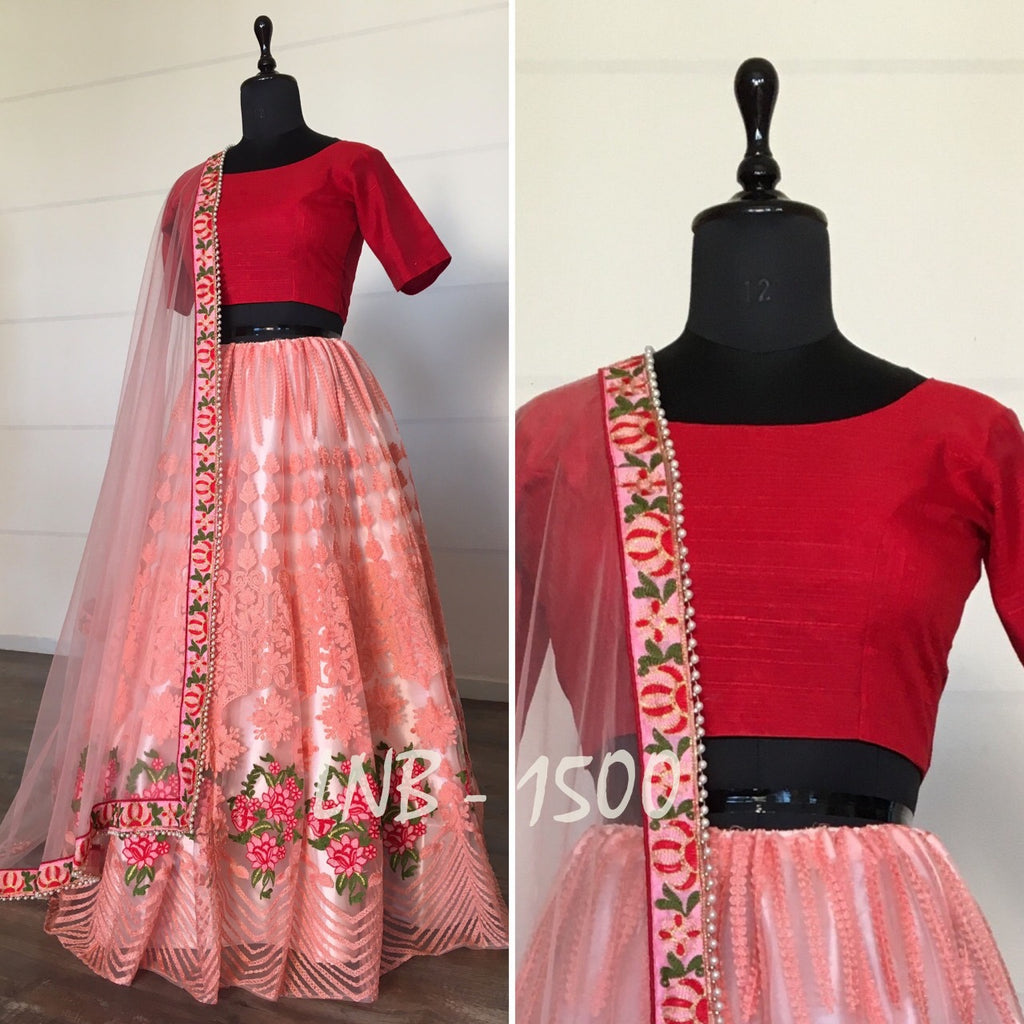 Beautiful Embroidered Net Lehenga Choli