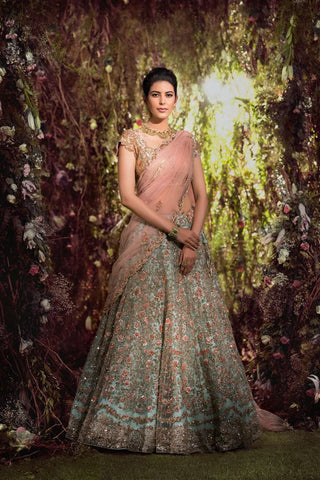 Beautiful Blue Embroidery Bollywood Wedding Lehengas Online Shopping