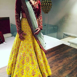 Radiant Yellow Bollywood Lehengas Collection ,Indian Dresses - 1
