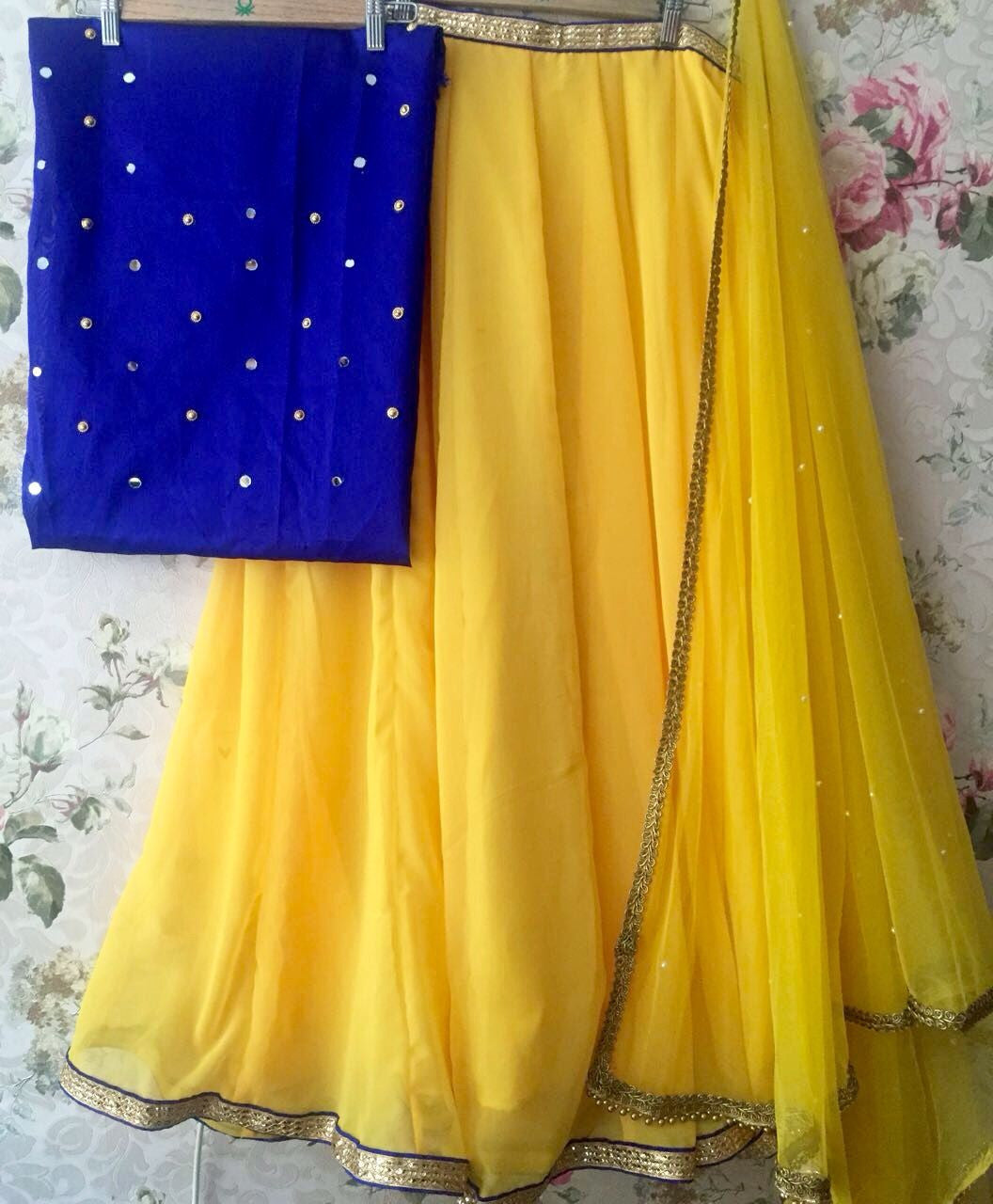 New Latest Lehenga Choli Yellow