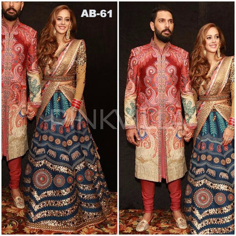 Hazel Keech Printed Indian Designer Lehenga Choli ,Indian Dresses - 1
