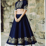 Dark Blue Banglori Bollywood Chaniya Choli Online ,Indian Dresses - 1