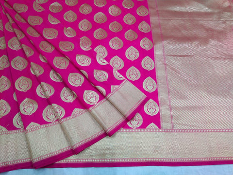Latest  Pink Banarasi Silk Sari Collection