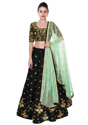 Trendy Black Bollywood Lehnga Dress Design