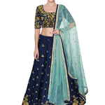 Buy Navy Blue Bollywood Choli Lehenga Designs