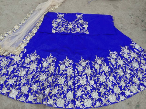 Royal Blue Bollywood Wedding Lenghas ,Indian Dresses - 2