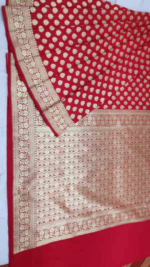 Red Banarasi Silk Indian Dress Latest Sarees Online Shopping