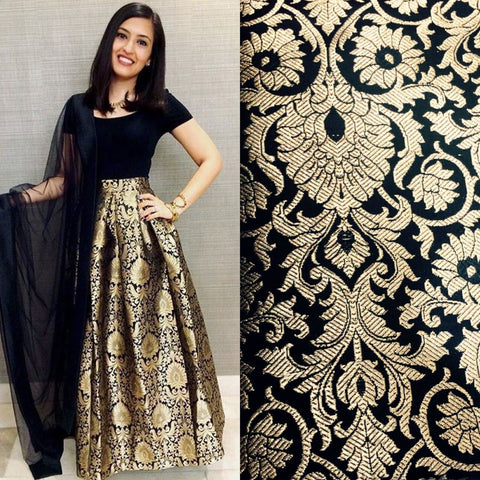 Black Brocade Bollywood Lehenga Choli Online Shopping ,Indian Dresses