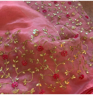 Pink Pure Organza Party Saree Designs With Price In India