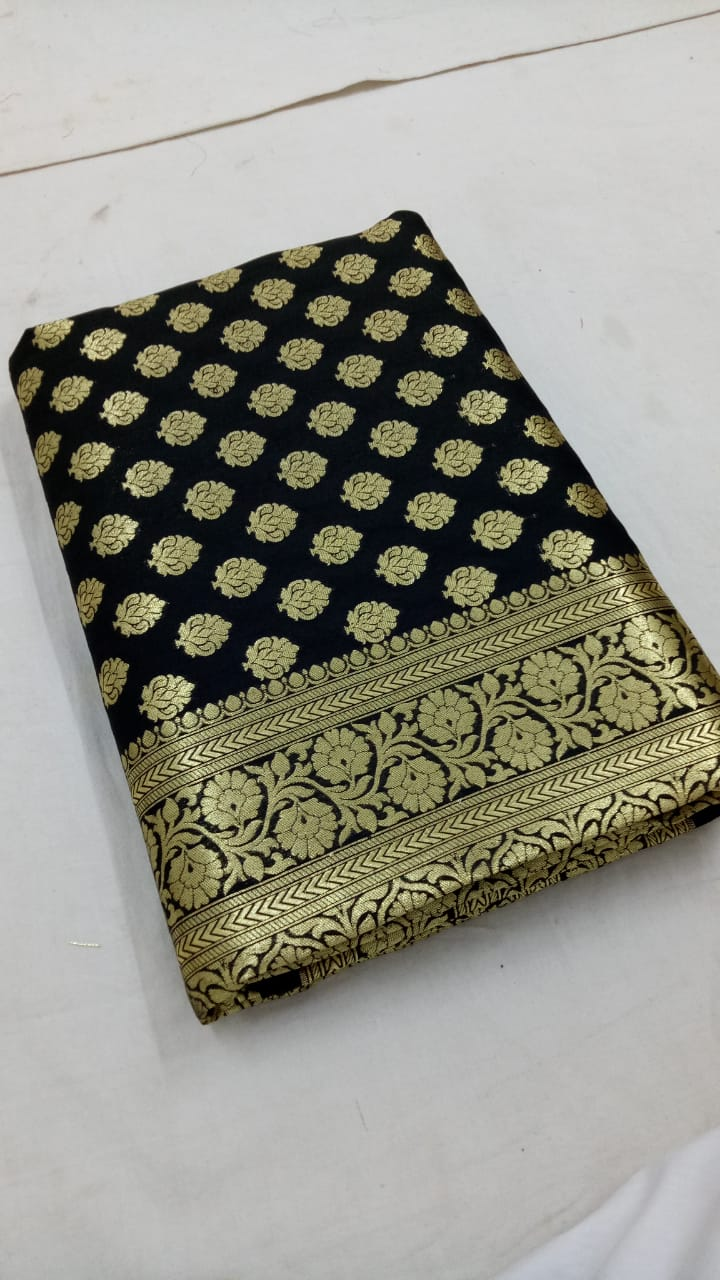 Black Banarasi Silk Sarees Online Shopping With Price