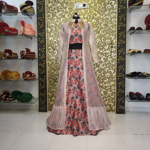 Dusty Rose Printed Taffeta Silk New Lehenga Choli Online Shop