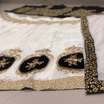 White Banglori Silk Indian Dresses Online Shopping Sites For Lehenga
