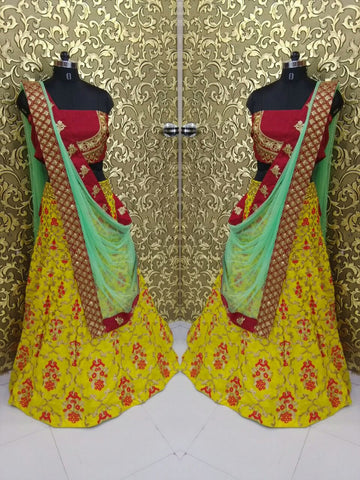 Radiant Yellow Bollywood Lehengas Collection ,Indian Dresses - 2