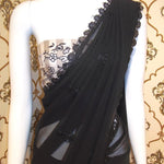 Shilpa Shetty Black Georgette Bollywood Fashion New Saree Online