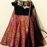 Pure Brocade Red Indian Designer Lehenga ,Indian Dresses - 2