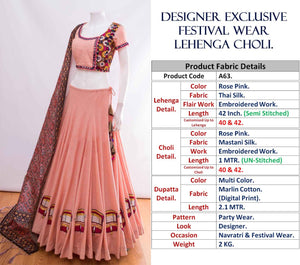 Rose Pink Silk Latest Ghagra Choli Design Online Shop India