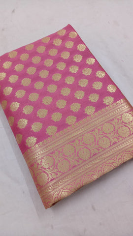 Light Pink Banarasi Silk Online Shopping Sarees In India