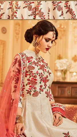 Cream Silk Embroidery Online Shopping For Wedding Suits