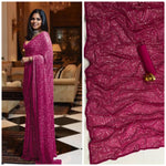 Pink Bollywood Sequins Saree in Georgette with Plain Silk Blouse