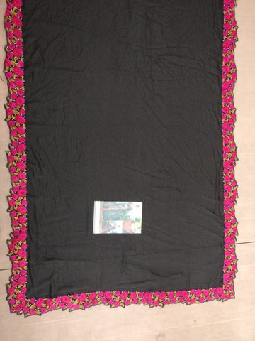 New Black Embroidery Online Shopping For Bollywood Sarees