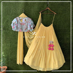 Stylish Georgette Yellow Embroidery Indian Lehenga Choli Designs