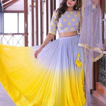 Double Tone Yellow Lehenga Bollywood Replicas