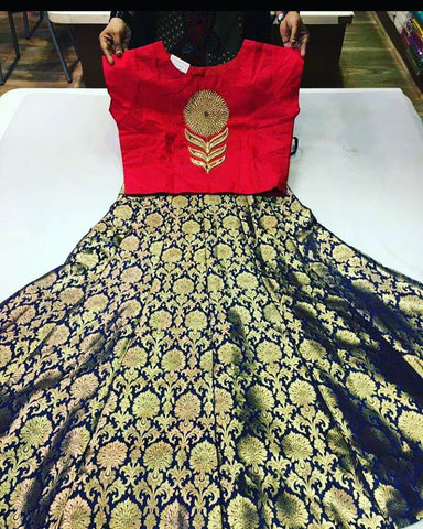 Beautiful Brocade With Matching Lengha Choli Online India