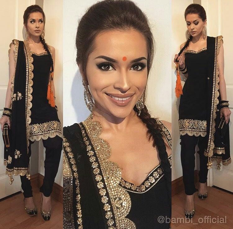 Black Silk Latest Fashion Indian Suits