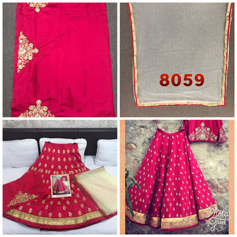 Tomato Red Bollywood Indian Designer Lehenga Choli
