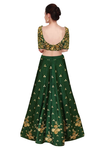 New Bollywood Green Lehenga Choli For Wedding Online