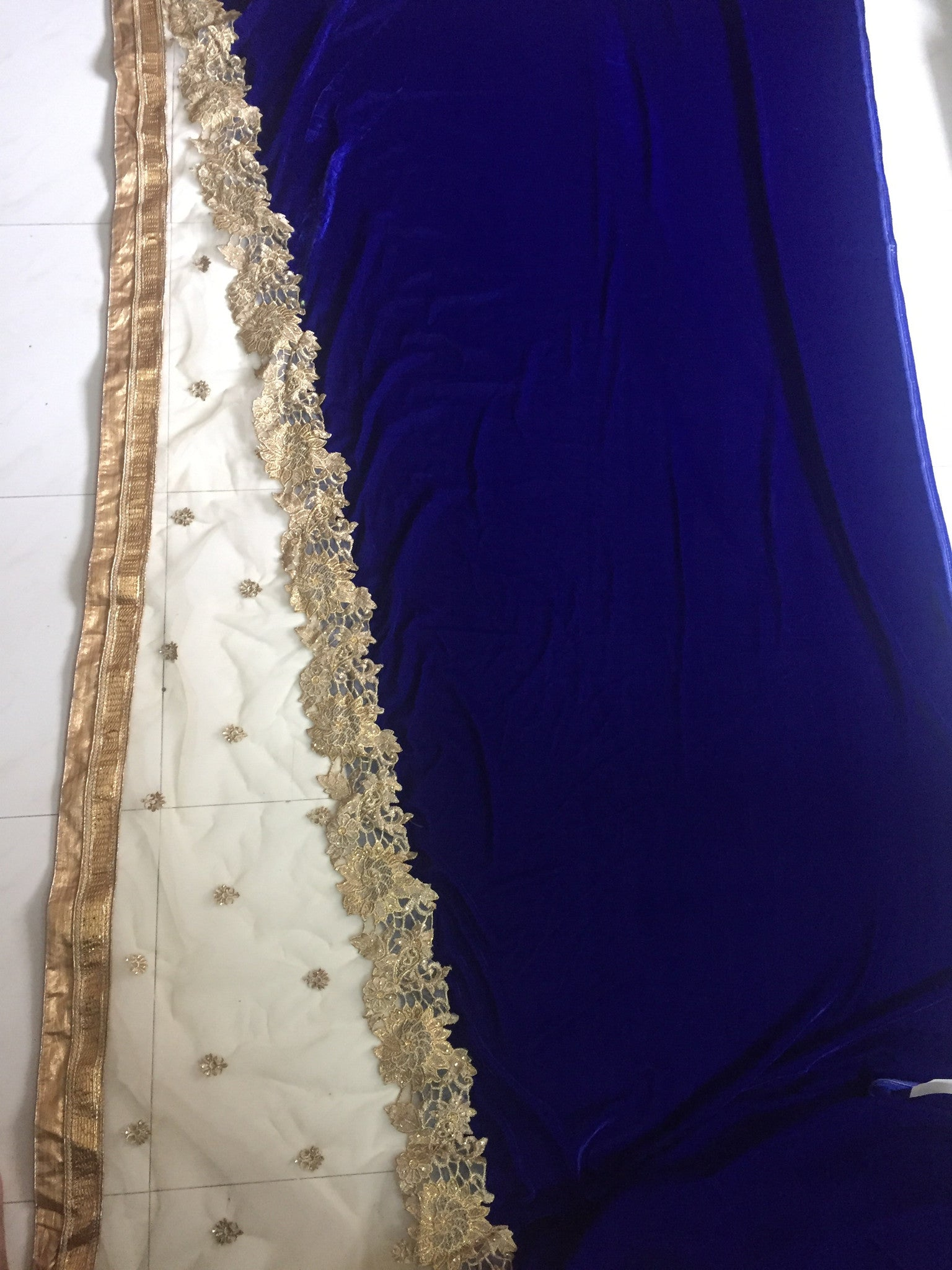 Chic Blue And Beige Bollywood Designer Saree ,Indian Dresses - 4