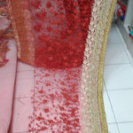 Heavy Net Embroidery Wedding Saree Online Shopping