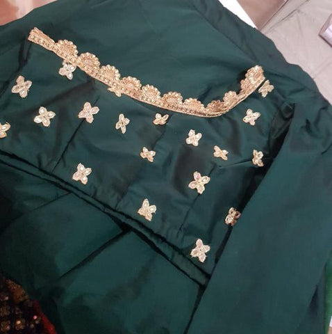 Bottle Green Crop Top Online Shopping For Lehengas