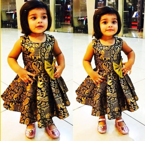 Indian Brocade Kids Wear Party Dresses Online Shopping