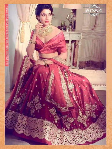 Red Zoya Silk Designer Lehengas With Price ,Indian Dresses