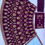 Purple Velvet Embroidered Indian Ghagra Choli Buy