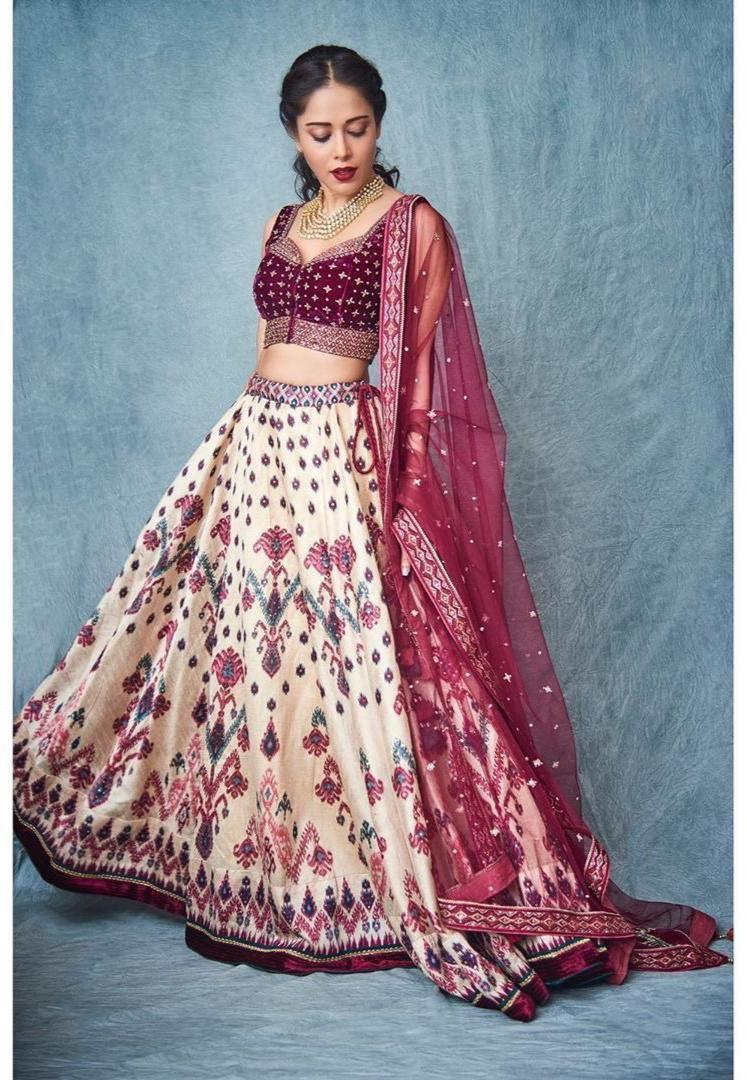Light Peach Digital Print Fashion Lehenga Choli Online Shop