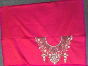 Rani Pink Embroidery Ghagra Choli For Women