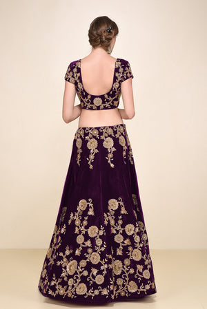 Purple Bollywood Lehenga Choli Designs For Wedding Online