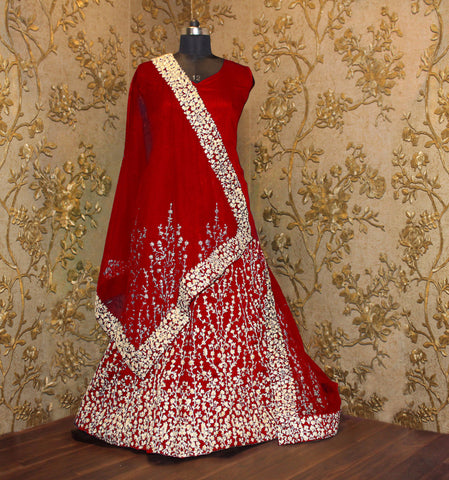 Red Embroidered Anarkali Salwar Suits With Price