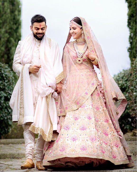 Anushka Sharma's Pretty Wedding Replica Lehenga Choli