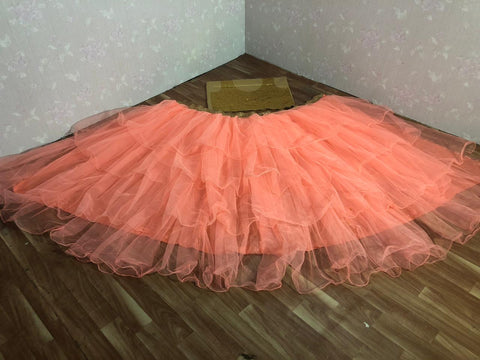Peach Net Ruffled Lehenga Blouse Latest Indian Dresses Online Shop